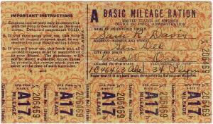 Gas Ration Card Sample