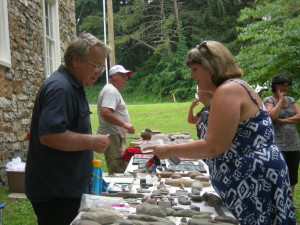 Steve Zeiders identifies an artifact brought to the event by a local. Zeiders is an avid hunter and collector, a hobby he's been doing since a teenager.